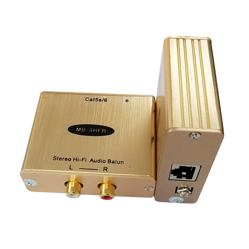 MuxBOXS-Cat5 Stereo Hi-Fi Audio Extender Hi-Fi Audio Extender Isolasi - Audio dan video rumah - Foto 1