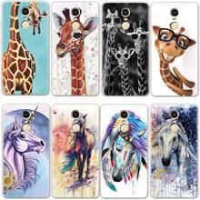 Giraffe and horse For Xiaomi Redmi 3 4 4A 5 Plus 6Pro 6A Mi A1 A2 5X 6X Note 3 4 4X 5A Coque For Redmi Note 5 Pro Playful Case