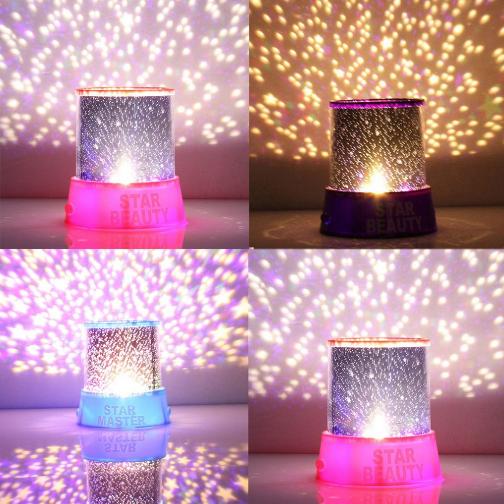Romantic Amazing Cosmos Moon Colorful Master Star Sky Universal Night Light Kid Chidren Projector Lamp Christmas Gift Present