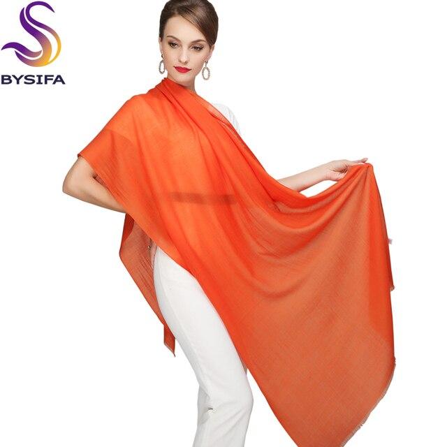 Wool Scarves Wraps Spring Ladies Wool Tassel Orange Scarf Shawl Autumn Winter 2016 New Brand Solid Long Scarves Wraps 210*80cm
