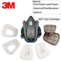 3 M Maske Selbstansaugende Filter Anti-virus Halb Maske 6502 mit 6001 Spray Gas Atemschutz Organische Dampf atemschutz GM377