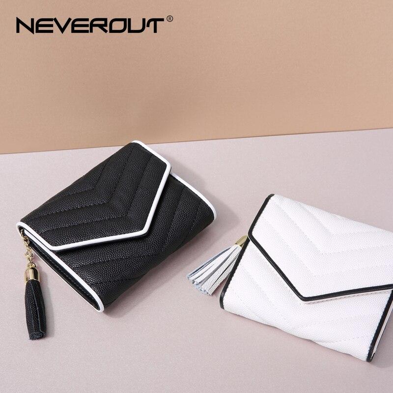 NOOIT 2 kleuren Mini gestreepte portemonnee voor vrouwen split - Portemonnees en portefeuilles
