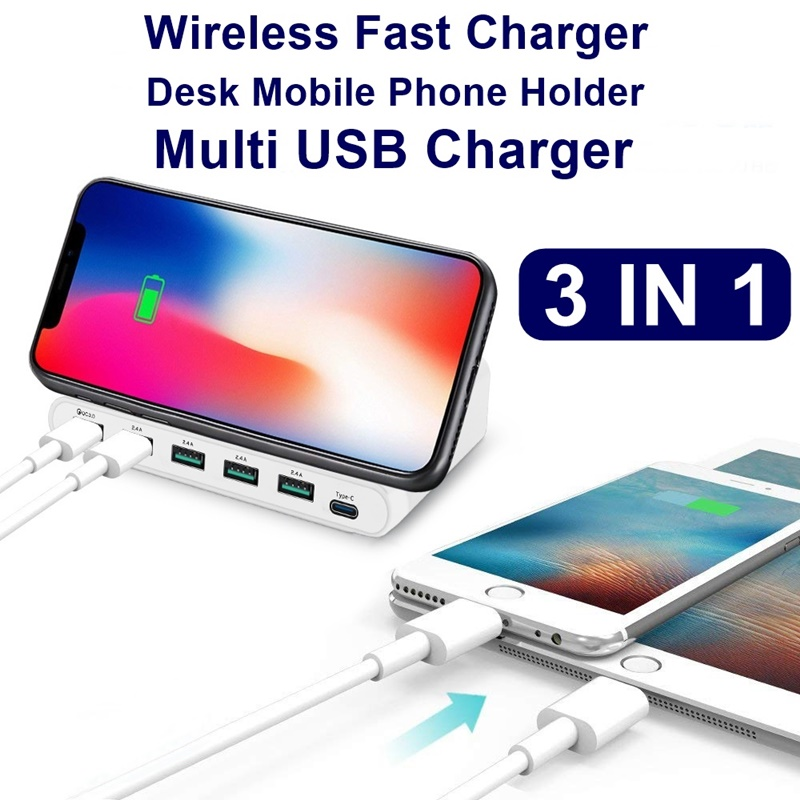 Image 4 - Tongdaytech 60W Qi Wireless Charger For Iphone 11 X XS MAX Multi USB Cargador Quick Charge 3.0 Fast Chargeur For Samsung S9 S8-in Mobile Phone Chargers from Cellphones & Telecommunications