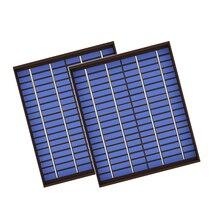 2 шт./лот x Поликристаллический PV модуль панели солнечных батарей 18 в 20 Вт 20 Вт ПЭТ зарядное устройство 12 в зарядное устройство 20 Вт