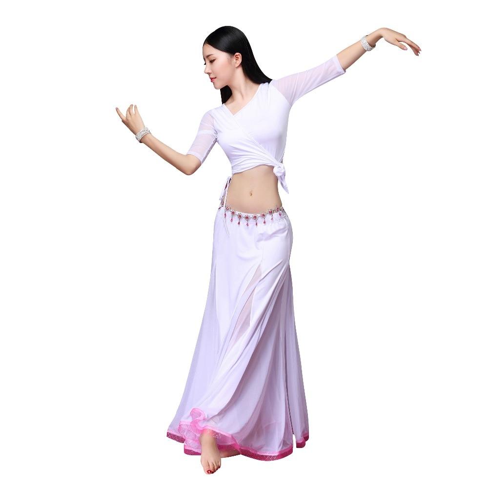 2018 Autumn Winter Women Dancewear Belly Dance Clothing 3pcs Outfits Girls Oriental Dance Costumes Set Top