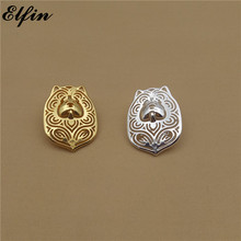 Elfin Cute Chow Chow Brooches Gold Color Silver Color Chow Chow Brooches Jewellery