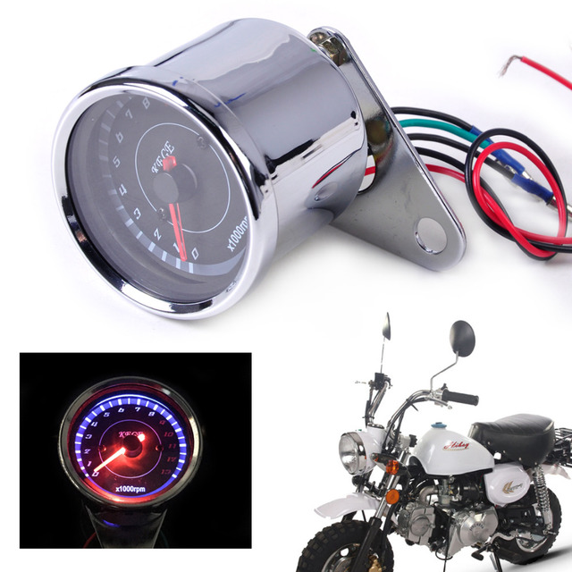 US $11 89 15% OFF|beler 60mm LED 13000 RPM Tachometer for Scooter Analog  Tacho Meter Gauge Motorcycle For Honda Yamaha Kawasaki Suzuki Choppers-in