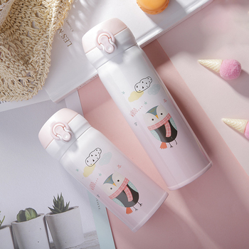 Children Vacuum Flask Portable Cute Thermal Bottle 2