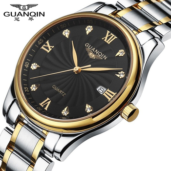 Relogio masculino GUANQIN Luxury Brand Analog Wristwatch Display Date Waterproof Stainless steel Men's Quartz Business Men Watch
