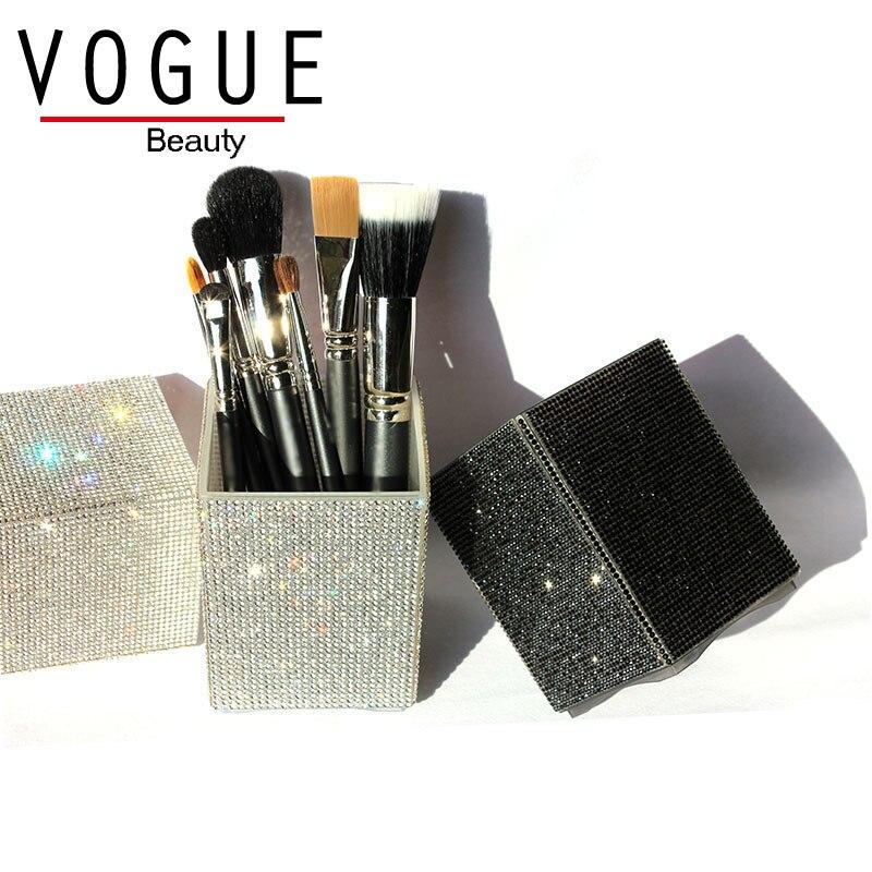 Big Diamond Mermaid makeup brush holder Crystal Rhinestone makeup brush set case makeup brushes organizer container