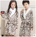 Hot Selling Bathrobe Kids 2016 Children's Bathrobes Kids Casual Leopard Bath Robes Boys girls Cartoon Romper Bathrobe For Kid