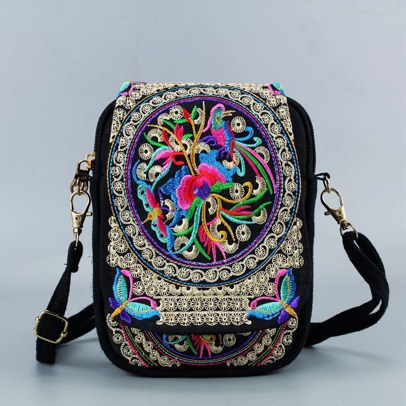 Women Bag Tassel Tote Embroidery Ethnic-Shoulder-Bag Messenger Boho Hippie Vintage Chinese