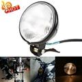 "Retro 5"" Motorcycle Headlight Amber Front Lamp Phare Moto Rond Noir For Honda Touring Harley Chopper Custom Motorcycle Headlight"