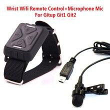 Бесплатная Доставка! Наручные Беспроводной Пульт Дистанционного Управления + Микрофон микрофон Для Gitup Git1 Git2 Спорт Helemet Камеры Действия