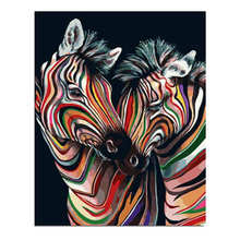 Pictures By Numbers,Wall Pictures,Living Room Decoration,Colorful Zebra Paint Numbers