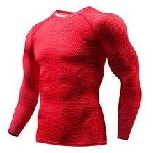 Camiseta deportiva elástica de compresión roja para hombre de secado rápido  camisetas para correr ropa de 49577a802aaaf