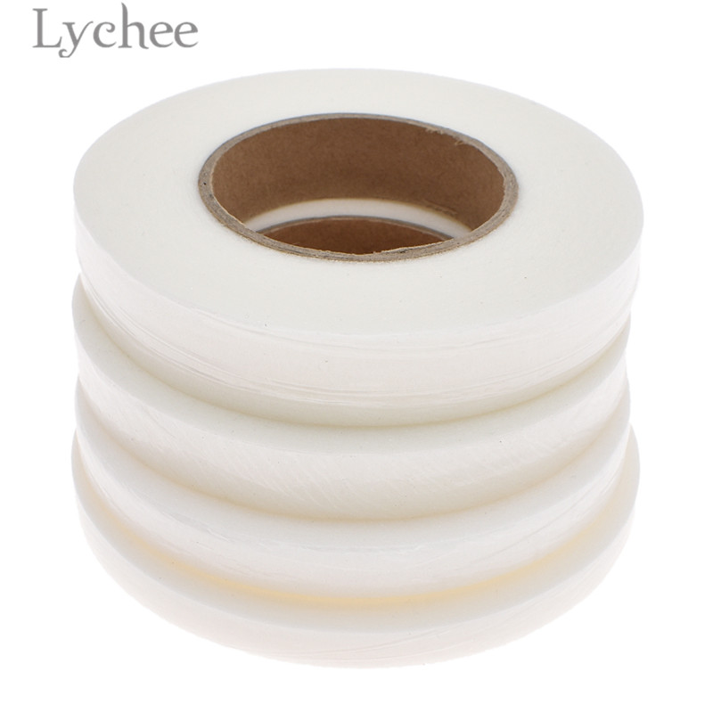 Lychee 70 Yards Double Side Hem Tape White Hemming Tape DIY Sewing Accessories