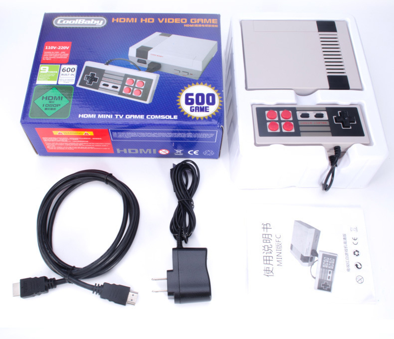 10pcs HDMI/AV output RS-38 RS-39 Built-In 600 Games Mini TV Family Game Console 8 Bit Retro Video Classic Game Console