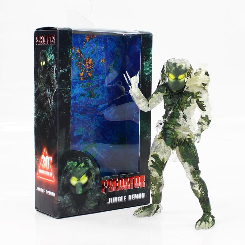 20 cm NECA Alien VS Predaor Jungle démon Figure d'action prédateur avec arme modèle de collection jouet