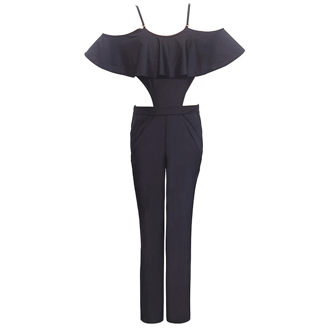 Sale New Arrival Ruffles Regular Shipping Fashion Sexy Brooke Jumpsuit And Color Rompers Strapless Wave Piece Pants