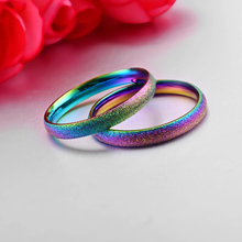 Multi Shaded Titanium Stainless Steel Wedding Ring For Women