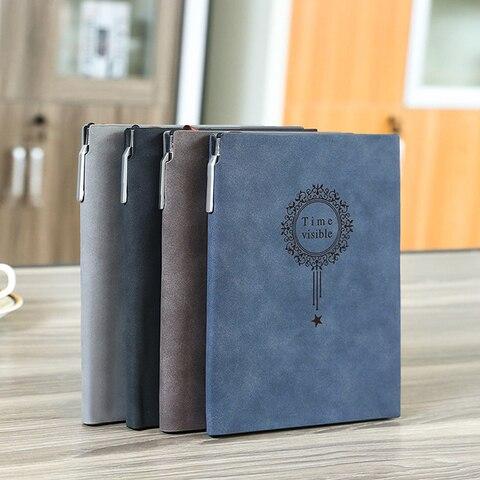 livre make logotipo nome personalizado almofadas de escrita de couro notebook a5 fichario diario preto