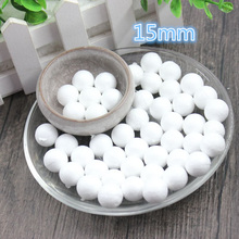 200 pcs 15mm Modelling Polystyrene Styrofoam Foam Ball White Craft Balls For DIY Christmas Party Decoration Supplies Gifts