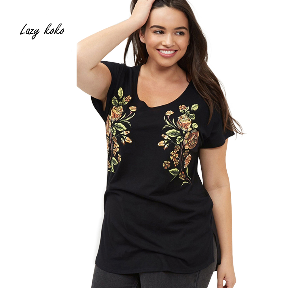 Lazy koko plus size new fashion women clothing casual for New shirt style for girl
