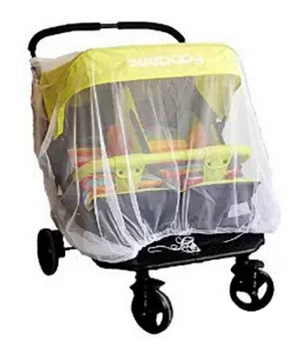 Mini Moucheron Dans La Maison nouveau né double poussette moustiquaire pour jumeaux bébé