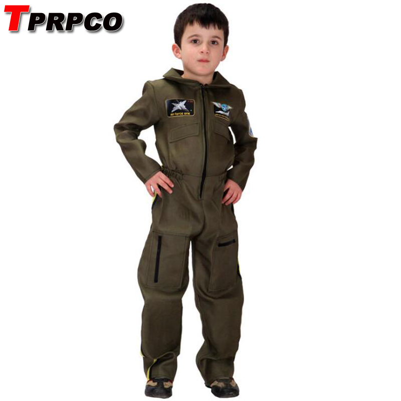 TPRPCO Kids Boys Special Forces Policeman Pilot costumes Halloween Cosplays for Children Purim Stage performance Carnival