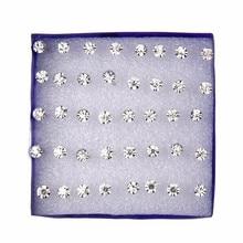 20 pares/set brincos de cristal branco conjunto para mulheres brinco conjunto jóias strass parafuso prisioneiro kit pacote lotes brincos