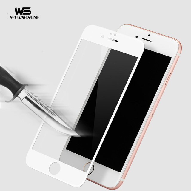 For Apple iPhone 6 6S Plus Full Covered Screen Protector Fiber 3D Edge 9H HD Tempered Glass Don't broken edges Protective Film