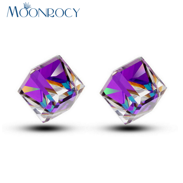 MOONROCY Fashion Jewelry Wholesale Rose Gold Color Square Be Green