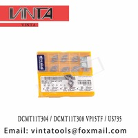 free shipping high quality DCMT11T304 VP15TF / US735 / DCMT11T308 VP15TF / US735 cnc carbide turning inserts