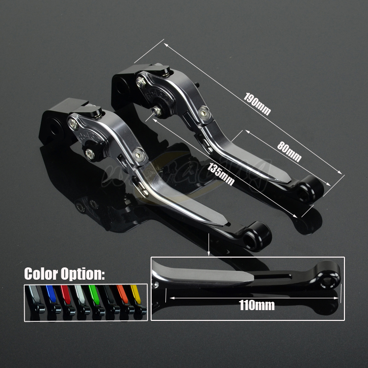 CNC Adjustable Motorcycle Billet Foldable Pivot Extendable Clutch & Brake Lever For BMW F800GS 08-16 F800R 09-16 F800GT F800S