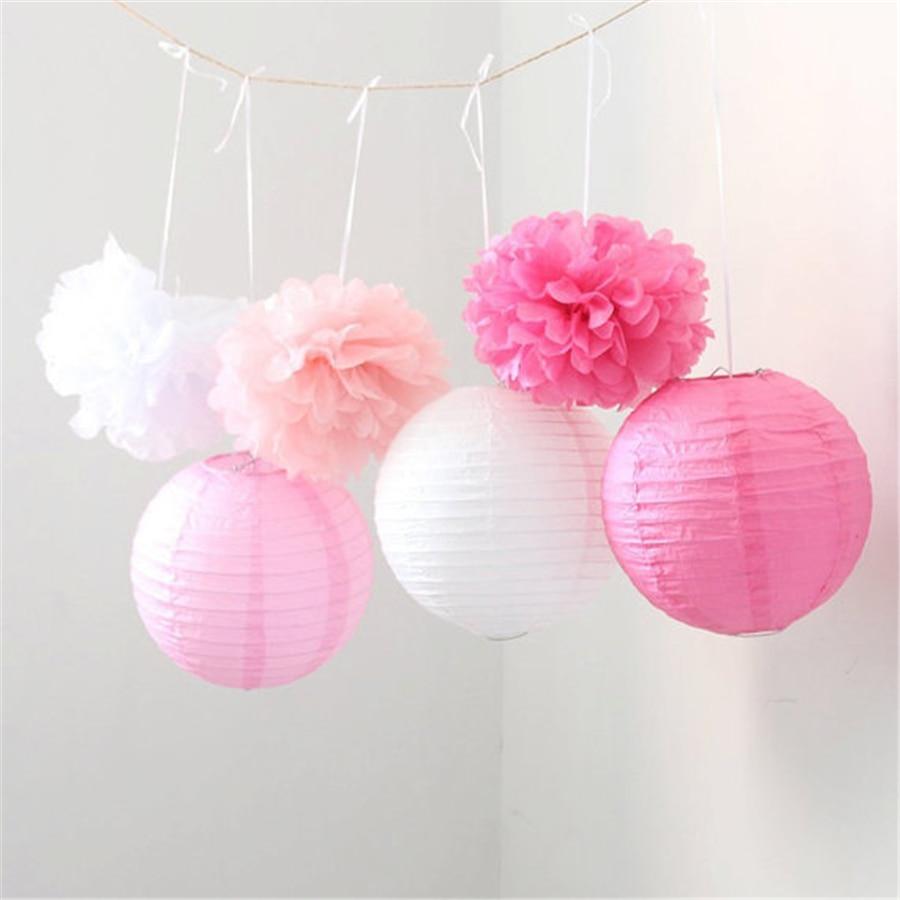 Hanging Pom Pom Decorations Aliexpresscom Buy Wedding Hanging Decorations 20 Pcs 8