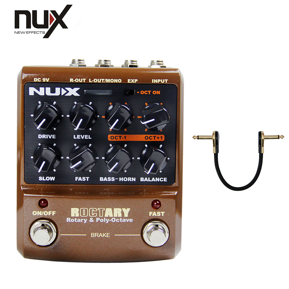 Guitar Parts & Accessories NUX Rotary Speaker Effects Built-in Overdrive True-Bypass octave effect nux octave loop guitar pedal looper 5 minutes recording time electric bass built in octave effect accessories