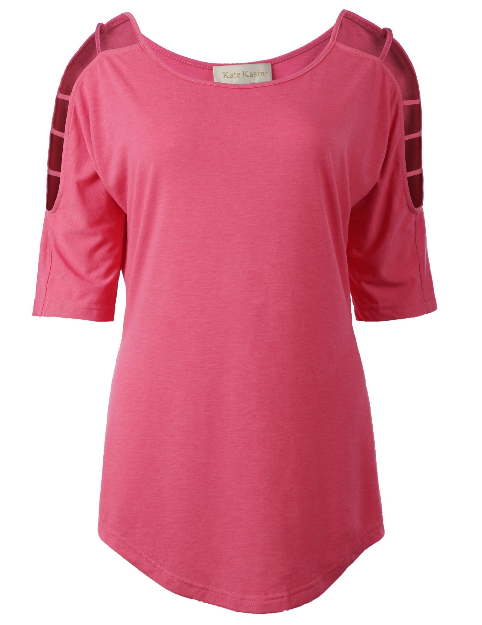 summer top for women Sexy Women Casual Loose hollow out half Sleeve Crew Neck T-Shirt Top camisas feminina