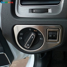 For Volkswagen VW Golf 7 2014 2015 Stainless Steel Auto Inerior Accessorie Light Switch Button Trim Inner Car Styling Decoration