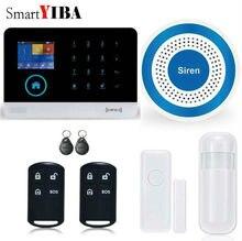 SmartYIBA Wireless Wifi GSM SMS RFID Home Security Burglar Intruder Alarm Wireless Strobe Siren Door Window