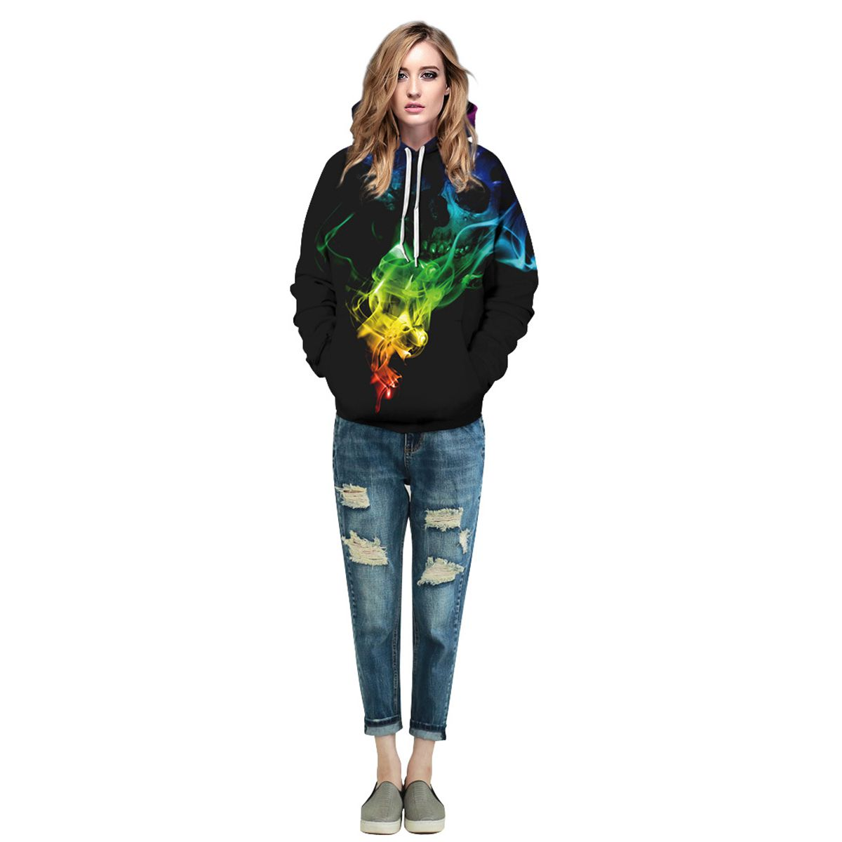 Men/Women New Fashion Unique Designed Colorful Smoke Skulls 3d Print Hoodies Sweatshirts Thin Unisex Hoodie Pullover