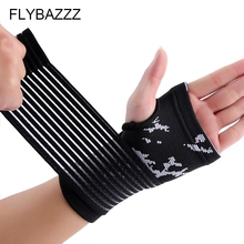FLYBAZZZ 1PCS Sport Protective Glove Adjustable Bandage Wrist Support Brace Fitness Dumbbell Hand Gym Accessories Palm Pad