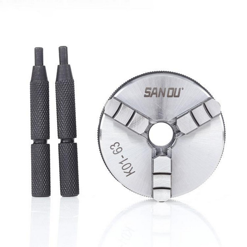 63mm 2.5  LATHE Chuck three Jaw Manual mini Self-Centering Sanou Chuck K01-63 Thread Mount for CNC Precision Instrument63mm 2.5  LATHE Chuck three Jaw Manual mini Self-Centering Sanou Chuck K01-63 Thread Mount for CNC Precision Instrument