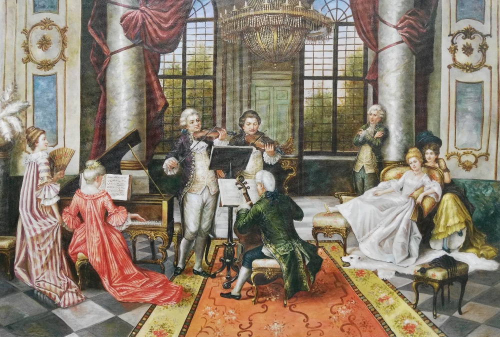 High Quality Canvas Art Picture Print Painting European Court Portrait Oil Painting on Canvas Wall Art Picture Home Decor