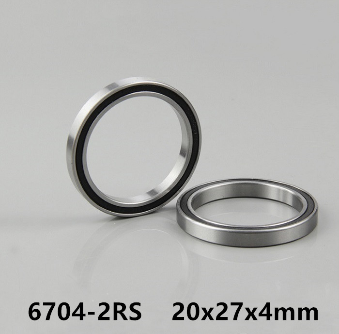 50pcs 6704-2RS 20*27*4 Rubber Sealed Thin Wall Deep Groove Ball Bearings 6704RS 6704 2RS 20x27x4 Mm