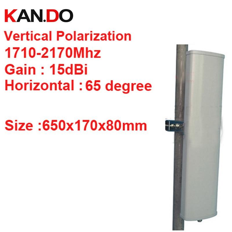 15dbi polarisation verticale 65 deg 1710-2170 Mhz panneau antenne DCS 3G antenne Base station utilisation LTE FDD antenne TDD 4G LTE