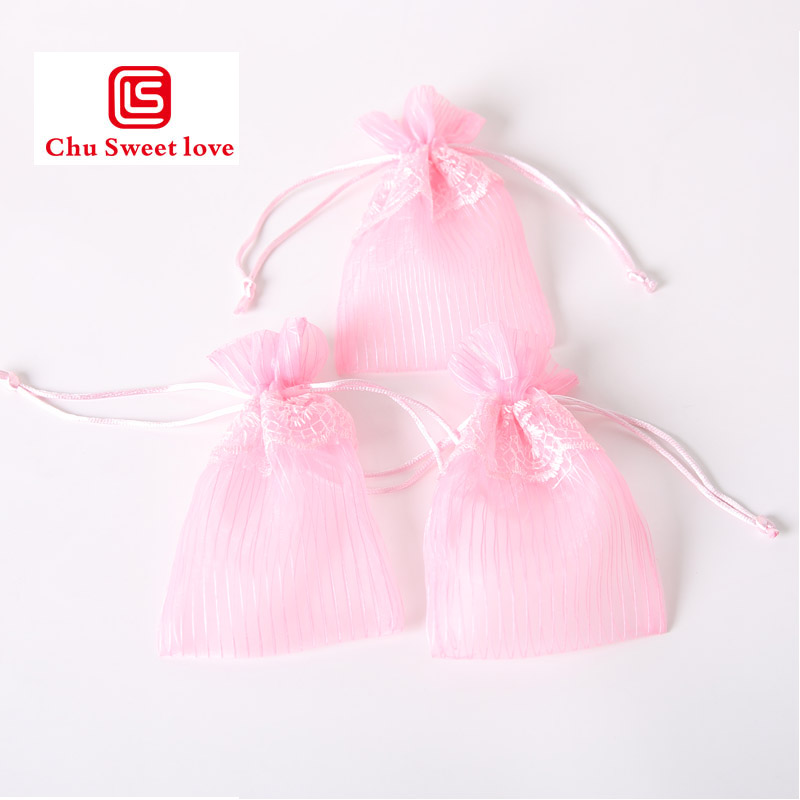 50pcs lot 10x15cm Organza Drawstring Bags Christmas Candy Bags Mixed Color Jewelry Wedding Decoration Gift lace