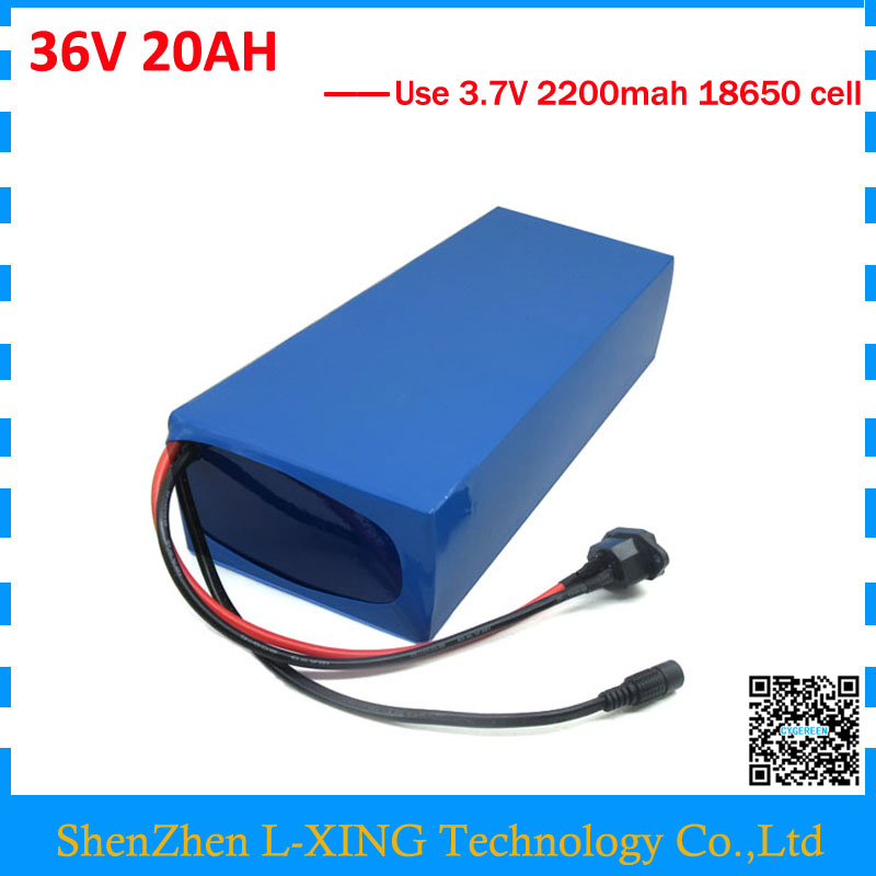 Free customs fee 36V 20AH battery 1000W 36 V 20AH lithium battery use 3.7V 2200mah 18650 cell 30A BMS 2A Charger free customs fee 1000w 36v 17 5ah battery pack 36 v lithium ion battery 18ah use samsung 3500mah cell 30a bms with 2a charger