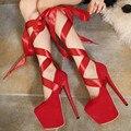 Zapatos Mujer Бросился Туфли На Платформе 2016 Весной Новый Украшенные Банкетные Партии Больше Носить Тонкие С Супер Сексуальные Пряжки Высокие Каблуки