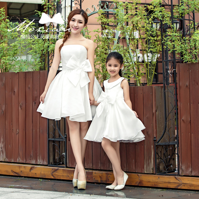 c4c938aa40 Mommy and Baby Dresses Women Girls Family Matching Oufits Mother Daughter  Wedding Dresses Clothes Mama Mum and Daughter Clothes